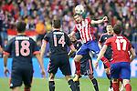 Atletico de Madrid's Gabi Fernandez (r) and FC Bayern Munchen's Douglas Costa during Champions League 2015/2016 Semi-Finals 1st leg match. April 27,2016. (ALTERPHOTOS/Acero)