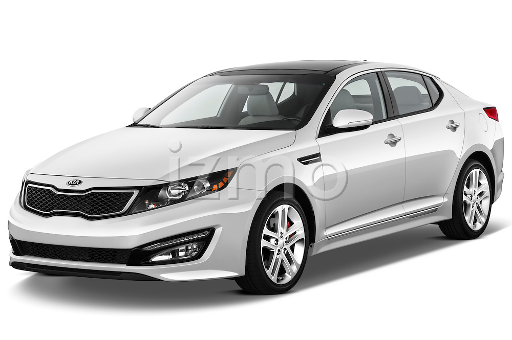 Front three quarter view of a 2013 Kia Optima SXL