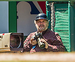 27 April 2014: Washington Post photographer John McDonnell works in a photo well during a game between the Washington Nationals and the San Diego Padres at Nationals Park in Washington, DC. The Padres defeated the Nationals 4-2 to to split their 4-game series. Mandatory Credit: Ed Wolfstein Photo *** RAW (NEF) Image File Available ***