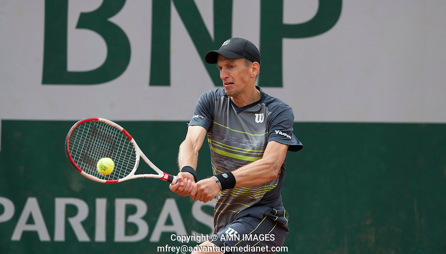 JARKKO NIEMINEN (FIN)<br /> <br /> Tennis - French Open 2014 -  Toland Garros - Paris -  ATP-WTA - ITF - 2014  - France -  25 May 2014. <br /> <br /> &copy; AMN IMAGES
