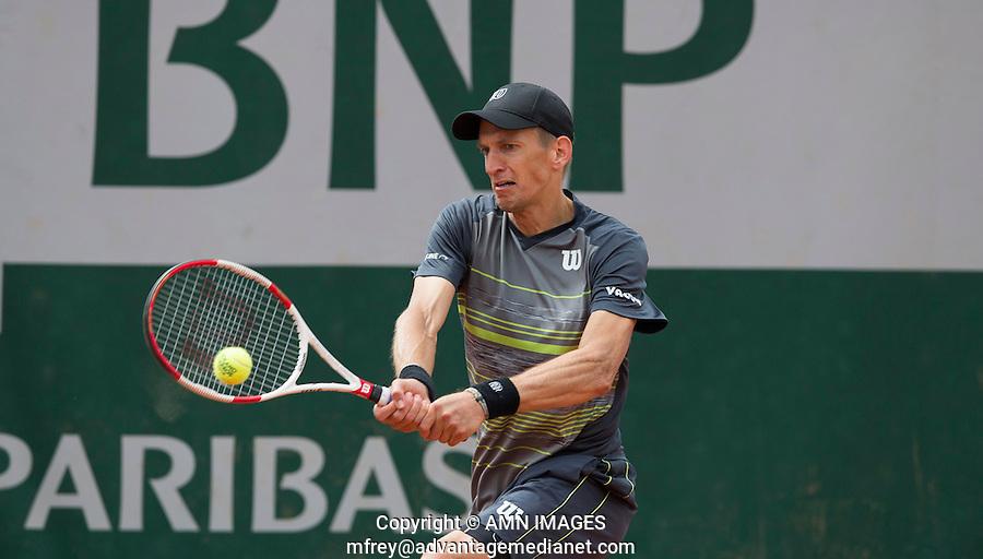JARKKO NIEMINEN (FIN)<br /> <br /> Tennis - French Open 2014 -  Toland Garros - Paris -  ATP-WTA - ITF - 2014  - France -  25 May 2014. <br /> <br /> &copy; AMN IMAGES