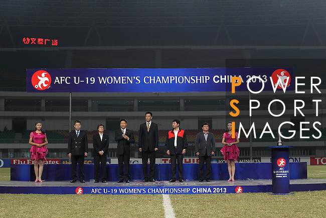 China vs Myanmar during the 2013 AFC U-16 Women's Championship  Standings match on October 20, 2013 at the Jiangning Sports Centre in Nanjing, China. Photo by World Sport Group