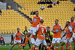 Brisbane&rsquo;s Daniel Bowles in action during the A League - Wellington Phoenix v Brisbane Roar FC at Westpac Stadium, Wellington, New Zealand on Sunday 25 March 2018.<br /> Photo by Masanori Udagawa. <br /> www.photowellington.photoshelter.com