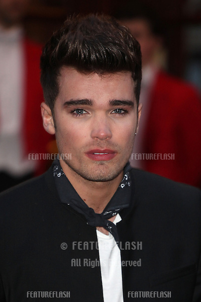 Josh Cuthbert from Union J arriving for the I Can't Sing Press Night, at the Paladium, London. 26/03/2014 Picture by: Alexandra Glen / Featureflash