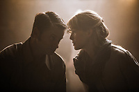 Beirut (2018) <br /> Shea Whigham &amp; Rosamund Pike<br /> *Filmstill - Editorial Use Only*<br /> CAP/MFS<br /> Image supplied by Capital Pictures