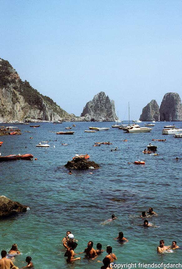 Italy: Capri--Marina Piccolo. Photo '83.