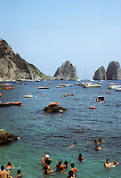 Italy: Capri--Marina Piccolo. Photo '83.