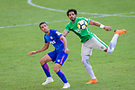 Eduardo Praes of Wofoo Tai Po (R) fights for the ball with Kitchee Forward Fernando Azevedo Pedreira (L) during the Hong Kong FA Cup final between Kitchee and Wofoo Tai Po at the Hong Kong Stadium on May 26, 2018 in Hong Kong, Hong Kong. Photo by Marcio Rodrigo Machado / Power Sport Images