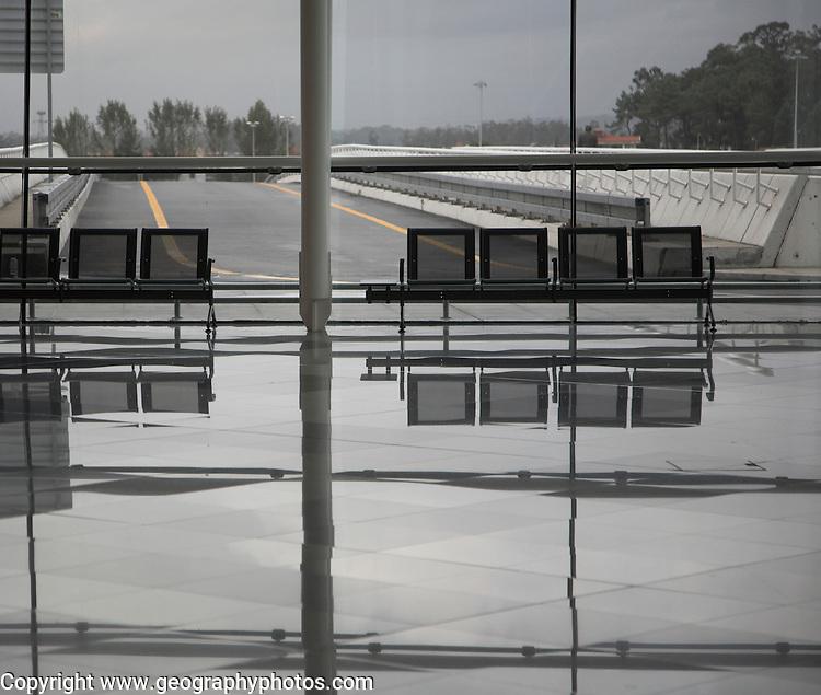 Modern architecture design Francisco Sá Carneiro Airport Oporto, Porto, Portugal
