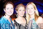 ENJOYING: Having a good time at the Rose of Tralee International Fashion Show on Sunday l-r: Annmarie O'Leary, Alice Matucova and Ciara Fitzgearld all from Catlegregory.   Copyright Kerry's Eye 2008