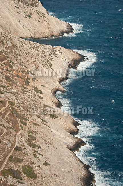 Rugged shoreline, Folegandros, Cyclades, Greece