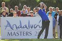 Richard Finch (ENG) during the 1st day at the  Andalucía Masters at Club de Golf Valderrama, Sotogrande, Spain. .Picture Fran Caffrey www.golffile.ie