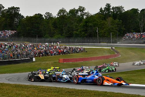Scott Dixon, Chip Ganassi Racing Honda, start