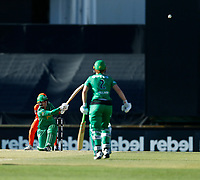 2nd November 2019; Western Australia Cricket Association Ground, Perth, Western Australia, Australia; Womens Big Bash League Cricket, Perth Scorchers versus Melbourne Stars; Lizelle Lee of the Melbourne Stars sweeps the ball - Editorial Use