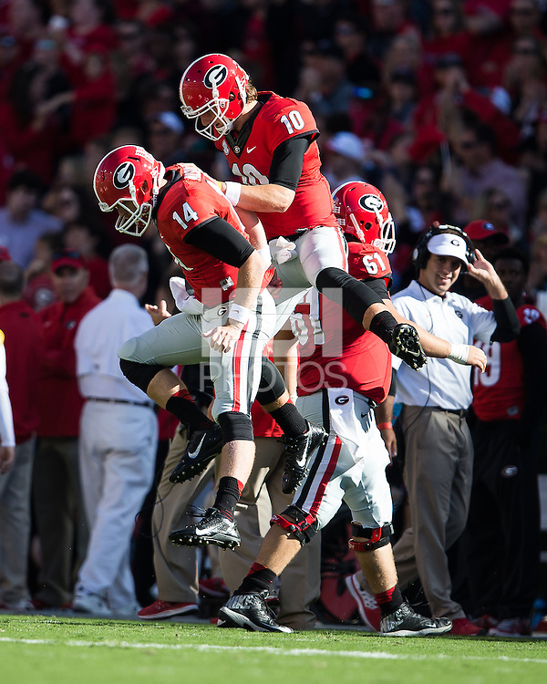 Athens, Georgia - October 4, 2014: The number 13 Georgia Bulldogs beat the Vanderbilt Commodores 44-17 at Sanford Stadium.