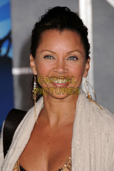 "VANESSA L. WILLIAMS.Disney's ""Hannah Montana & Miley Cyrus: Best of Both Worlds"" Concert Premiere at the El Capitan Theatre, Hollywood, California, USA..January 17th, 2008.headshot portrait gold hoop earrings .CAP/ADM/BP.©Byron Purvis/AdMedia/Capital Pictures."