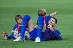 Gerard Pique of FC Barcelona and his sons during the match of  Copa del Rey (King's Cup) Final between Deportivo Alaves and FC Barcelona at Vicente Calderon Stadium in Madrid, May 27, 2017. Spain.. (ALTERPHOTOS/Rodrigo Jimenez)