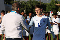 David Brooks of Sheffield United and England collects his Trophy for being voted The Best Player of the Tournament during England Under-18 vs Ivory Coast Under-20, Toulon Tournament Final Football at Stade de Lattre-de-Tassigny on 10th June 2017