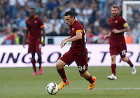 Calcio, Serie A: Lazio vs Roma. Roma, stadio Olimpico, 25 maggio 2015.<br /> Roma's Alessandro Florenzi in action during the Italian Serie A football match between Lazio and Roma at Rome's Olympic stadium, 25 May 2015.<br /> UPDATE IMAGES PRESS/Riccardo De Luca