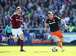 Northampton's Matt Taylor tussles with Sheffield United's Jay O'Shea during the League One match at the Sixfields Stadium, Northampton. Picture date: April 8th, 2017. Pic David Klein/Sportimage