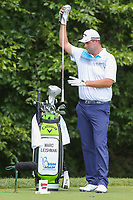 Bethesda, MD - July 1, 2017: Marc Leishman gets set to take his tee shot during Round 3 of professional play at the Quicken Loans National Tournament at TPC Potomac in Bethesda, MD, July 1, 2017.  (Photo by Elliott Brown/Media Images International)