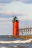 64795-02512 South Haven Lighthouse early morning South Haven,  MI