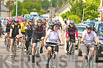THERE OFF: The start of the Charity Cycle in aid of the A&E at KGH at Strand Road on Saturday.