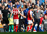 Chelsea's David Luiz gets sent off during the premier league match at Stamford Bridge Stadium, London. Picture date 17th September 2017. Picture credit should read: David Klein/Sportimage