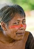 Pará State, Brazil. Aldeia Pukararankre (Kayapo). Wudje Kayapo, cacique and paje, healer.