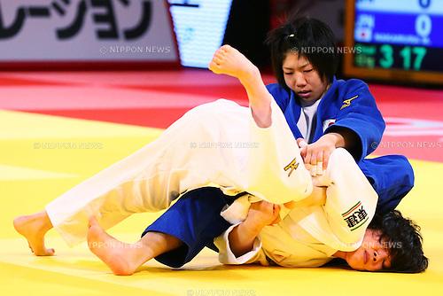 (L-R)<br /> Misato Nakamura,<br /> Ai Shishime,  (JPN)<br /> DECEMBER 4, 2015 - Judo : <br />  IJF Grand Slam Tokyo 2015 International Judo Tournament<br /> Women's -52kg Final <br /> at Tokyo Metropolitan Gymnasium, Tokyo, Japan. <br /> (Photo by Shingo Ito/AFLO SPORT)