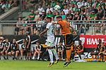 12.07.2017, Parkstadion, Zell am Ziller, AUT, TL Werder Bremen 2017 - FSP SV Werder Bremen (GER) vs Wolverhampton Wanderers (ENG)<br /> <br /> im Bild<br /> Theodor Gebre Selassie (Werder Bremen #23) im Duell / im Zweikampf mit Matt DOHERTY (Wolverhampton Wanderers #2), <br /> <br /> Foto &copy; nordphoto / Ewert