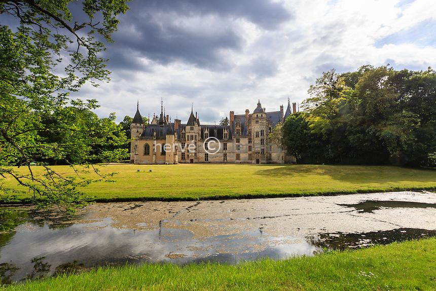 France, Cher (18), Meillant, château de Meillant