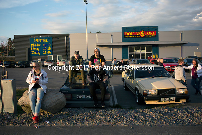GISLAVED, SWEDEN - MAY 6: Swedish youth attend a car meet, a display of new and old cars, during a yearly event on May 6, 2017 in Gislaved, Sweden. Many came from neighboring towns and cities, and these car meets are popular all over Sweden, and part of a car culture in the country.  (Photo by Per-Anders Pettersson/Getty Images)