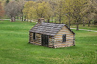 Encampment cabin at Vally Forge National Historic Park, Pennsylvania, USA
