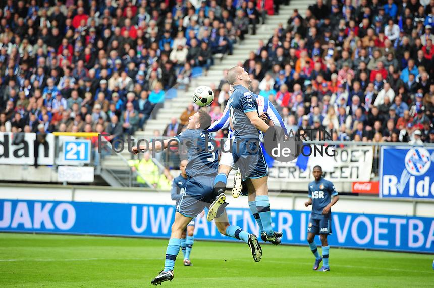 VOETBAL: HEERENVEEN: Abe Lenstra Stadion, SC Heerenveen - Feyenoord, 06-05-2012, Stefan de Vrij (#3), Bas Dost (#12), Ron Vlaar (#4), Eindstand 2-3, ©foto Martin de Jong