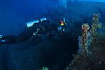 Orchid Island (蘭嶼), Taiwan -- Diver exploring Ba Dai Wreck (八代沉船)