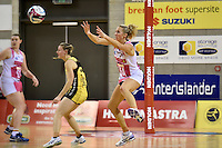 Thunderbirds' Erin Bell in action during the ANZ Championship - Central Pulse v Adelaide Thunderbirds at Te Rauparaha Arena, Porirua, New Zealand on Sunday 12 June 2016. <br /> Photo by Masanori Udagawa. <br /> www.photowellington.photoshelter.com.