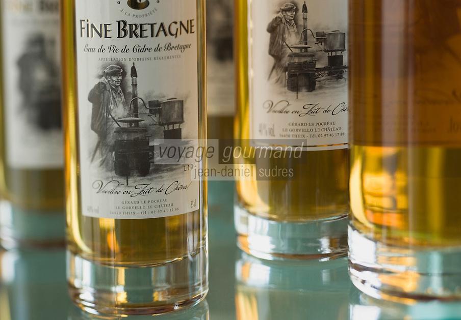 Europe/France/Bretagne/56/Morbihan/Theix: Fine Bretagne, distillée et vieillie en fût de chêne de Gérard le Pocréau, le château, le Gorvello,