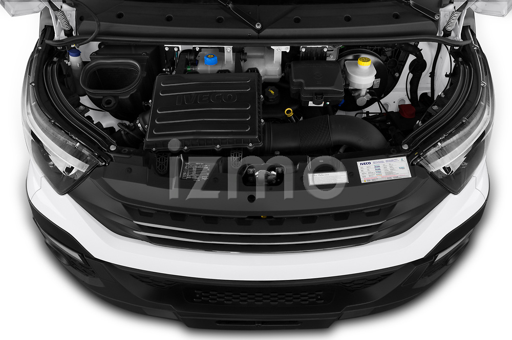 Car Stock 2018 Iveco Daily - 4 Door Cargo Van Engine  high angle detail view