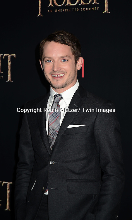 "Elijah Wood attends the US Premiere of ""The Hobbit"" on December 6, 2012 at the Ziegfeld Theatre in New York City."