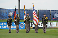 Honor Guard at the signing of the National Anhtem.   Washington Freedom tied Chicago Red Stars 1-1  at The Maryland SoccerPlex, Saturday April 11, 2009.