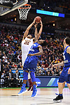MILWAUKEE, WI - MARCH 16:  Minnesota Gophers center Reggie Lynch (22) tries to pull down a rebound over Middle Tennessee Blue Raiders forward Brandon Walters (1) during the first half of the 2017 NCAA Men's Basketball Tournament held at BMO Harris Bradley Center on March 16, 2017 in Milwaukee, Wisconsin. (Photo by Jamie Schwaberow/NCAA Photos via Getty Images)