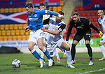 St Johnstone v Inverness Caledonian Thistle...20.12.14   SPFL<br /> Michael O'Halloran is blocked by Gary Warren<br /> Picture by Graeme Hart.<br /> Copyright Perthshire Picture Agency<br /> Tel: 01738 623350  Mobile: 07990 594431