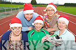 An Riocht are asking runners and walkers to participate in the Christmas Day mile on their track to help raise money for local charities l-r: Margaret Enright, Sean Hanly Oilean Beo St John of Gods, Tina Donovan An Riocht, Gillian Kenny Glebe Lodge Kerry Parents and Friends and Rita McCarthy Castleisland Daycare Centre