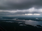 May 13, 2009. Sanford, NC..Flying with Charles Boss, a retired chemistry professor from NC State, around Chatham, Durham and Lee counties from the Sanford- Lee County Regional Airport.. Jordan Lake.