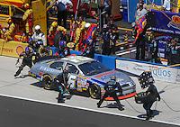Apr 29, 2007; Talladega, AL, USA; Nascar Nextel Cup Series driver Jamie McMurray (26) pits during the Aarons 499 at Talladega Superspeedway. Mandatory Credit: Mark J. Rebilas