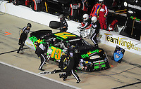 May 1, 2009; Richmond, VA, USA; NASCAR Nationwide Series driver Derrike Cope pits during the Lipton Tea 250 at the Richmond International Raceway. Mandatory Credit: Mark J. Rebilas-