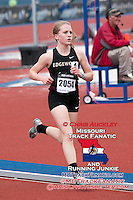 Edgewood (Wisconsin) senior Amy Davis runs to victory in the 3200-meters in 10:31.39 at the 2015 Kansas Relays.