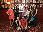 Julie Taymor with the cast of 'M. Butterfly' attends the Julie Taymor Sardi's Caricature unveiling at Sardi's Restaurant on November 3, 2017 in New York City.
