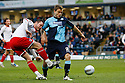 Chris Beardsley of Stevenage shoots past Danny Foster of Wycombe. - Wycombe Wanderers v Stevenage - Adams Park, High Wycombe - 31st December 2011  .© Kevin Coleman 2011